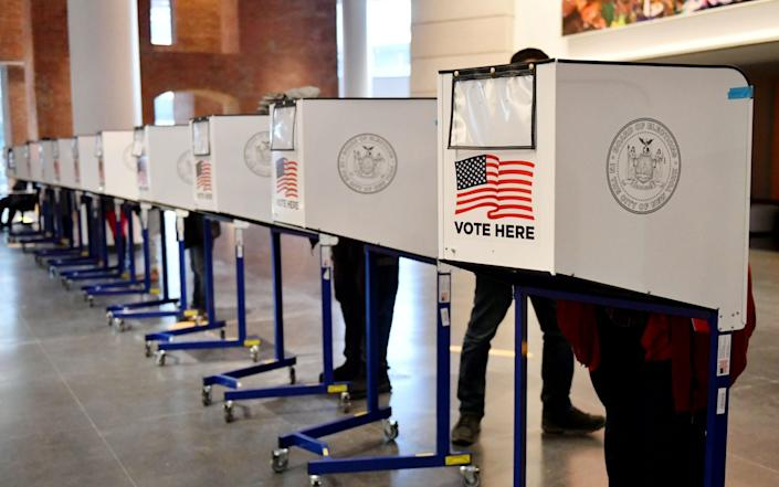 Presidential Election at the Brooklyn Museum in New York - Shutterstock