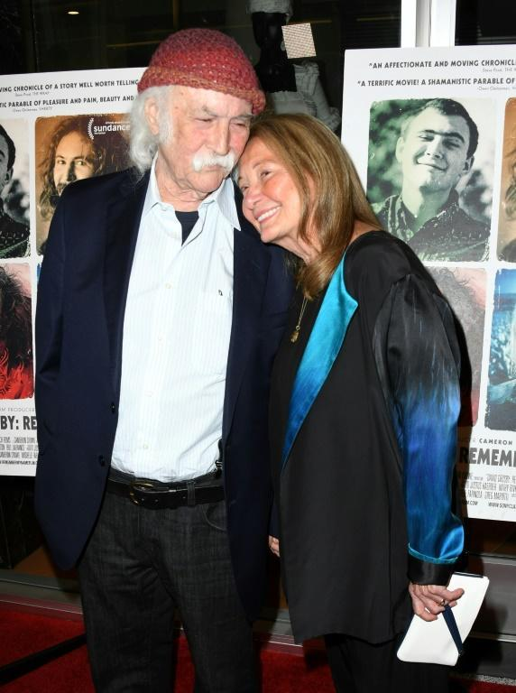"David Crosby and wife Jan Dance at the premiere of the documentary ""David Crosby: Remember My Name"" in 2019"