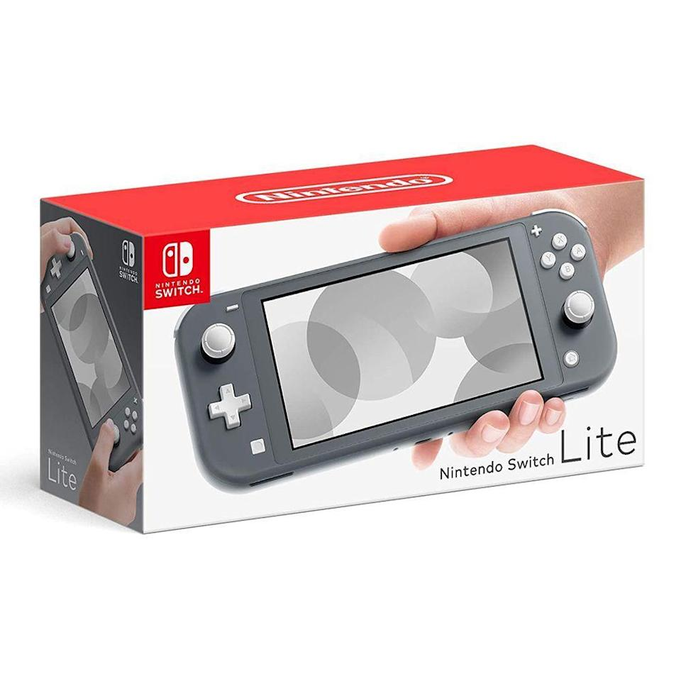 """<p><strong>Nintendo</strong></p><p>amazon.com</p><p><strong>$214.39</strong></p><p><a href=""""https://www.amazon.com/dp/B07VKJ57TW?tag=syn-yahoo-20&ascsubtag=%5Bartid%7C10063.g.37394352%5Bsrc%7Cyahoo-us"""" rel=""""nofollow noopener"""" target=""""_blank"""" data-ylk=""""slk:Shop Now"""" class=""""link rapid-noclick-resp"""">Shop Now</a></p><p>This can keep kids busy during a long road trip or just give you something to do on your commute. With games like Metroid Dread and Super Mario Party Superstars dropping this year, now is the perfect time to grab a Switch and get back into gaming. This set also includes a memory card to give your device a storage boost.<br></p>"""