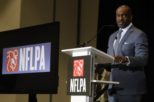 Executive director DeMaurice Smith, of the NFL Players Association, said he is confident the NFL's CBA proposal will be accepted by players. (AP Photo/Chris Carlson)
