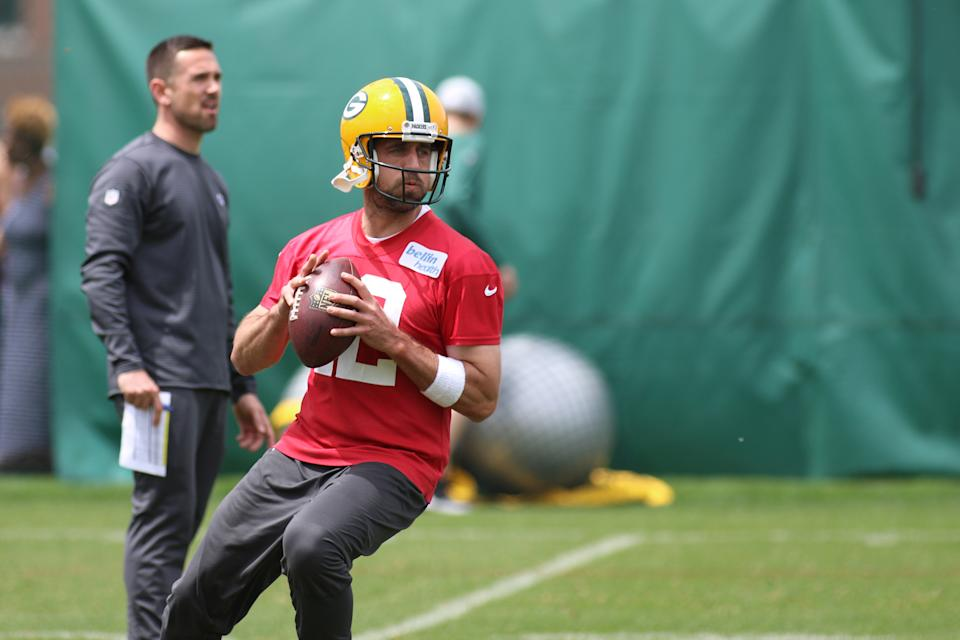 The Green Bay Packers aren't looking to replace quarterback Aaron Rodgers, but it wouldn't be surprising to see them draft a QB soon. (Getty Images)