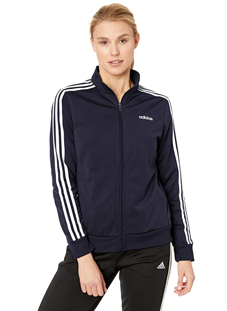 "<br><br><strong>Adidas</strong> Essentials Track Jacket, $, available at <a href=""https://amzn.to/3nTaXn0"" rel=""nofollow noopener"" target=""_blank"" data-ylk=""slk:Amazon"" class=""link rapid-noclick-resp"">Amazon</a>"
