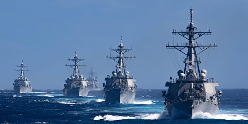 The Theodore Roosevelt Carrier Strike Group transits the Pacific Ocean Jan. 25, 2020.