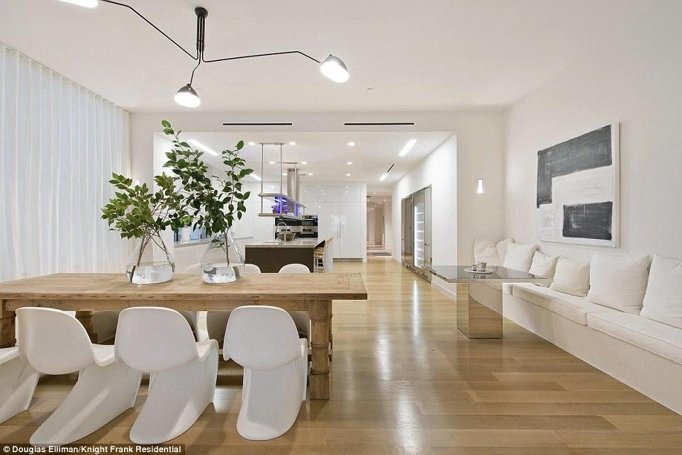 The 6,540 square-foot apartment is located on the famous Park Avenue over-looking the beautiful Madison Square Park.