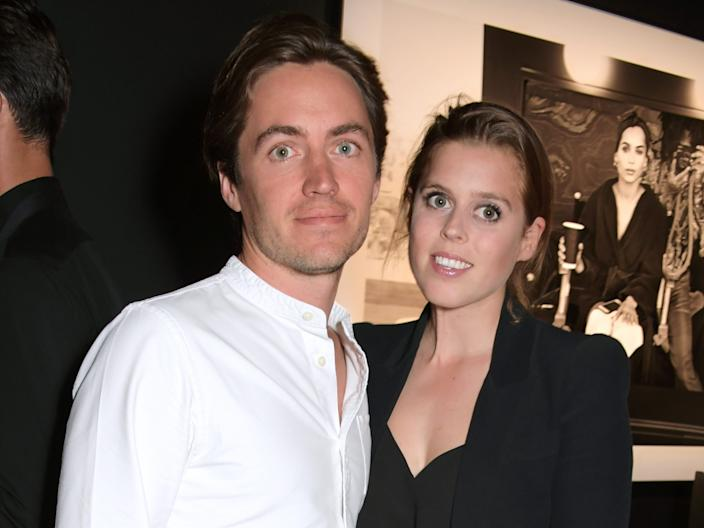 Edoardo Mapelli Mozzi and Princess Beatrice of York attend the Lenny Kravitz & Dom Perignon 'Assemblage' exhibition, the launch Of Lenny Kravitz' UK Photography Exhibition, on July 10, 2019 in London, England.