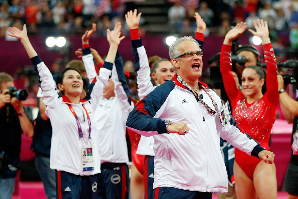 <p>Former USA Olympic gymnastics coach John Geddert faces abuse charges</p> (Photo by Jamie Squire/Getty Images)