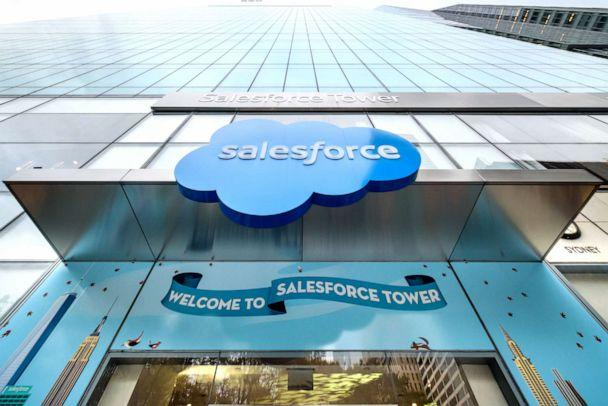 PHOTO: Salesforce Headquarters in New York, Oct. 11, 2019. (Erik Mcgregor/LightRocket via Getty Images)