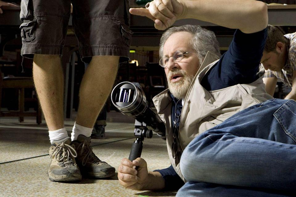 <p>Spielberg on the set of <em>Indiana Jones and The Kingdom Of The Crystal Skull</em>.</p>