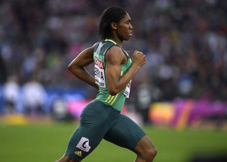 Athletics - World Athletics Championships - Women's 800 Metres Semi-Final - London Stadium, London, Britain – August 11, 2017. Caster Semenya of South Africa wins the semi-final heat. REUTERS/Toby Melville