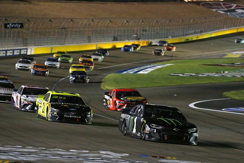 Busch wins in overtime at Las Vegas