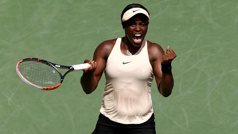 Stephens steamrolled Azarenka after dropping the first set. Pic: Getty