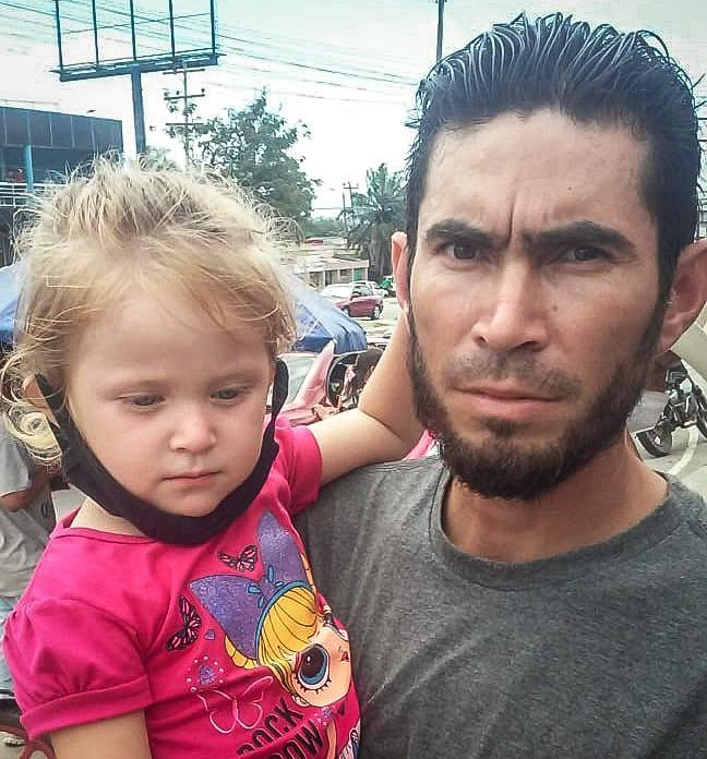 David Sanabria and his daughter Ximena during his journey in Mexico in March 2021. (Sanabria family)