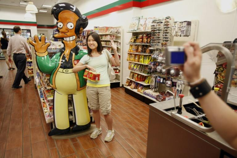 Apu Nahasapeemapetilon, manager of the show's Kwik-E-Mart, is voiced by white actor Hank Azaria, whose marked accent for the role has been criticized