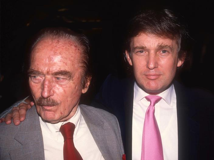 Fred Trump and son Donald Trump