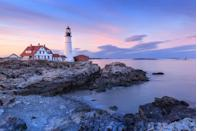 """<p><strong>Portland Head Lighthouse </strong></p><p>Enjoy a day along the water in Cape Elizabeth along the shores of Fort Williams Park. The <a href=""""https://portlandheadlight.com/"""" rel=""""nofollow noopener"""" target=""""_blank"""" data-ylk=""""slk:Portland Head Lighthouse"""" class=""""link rapid-noclick-resp"""">Portland Head Lighthouse</a>, now a landmark, dates back to 1776 when the Town of Cape Elizabeth posted eight soldiers at the lighthouse to warn citizens of incoming British attacks.</p>"""