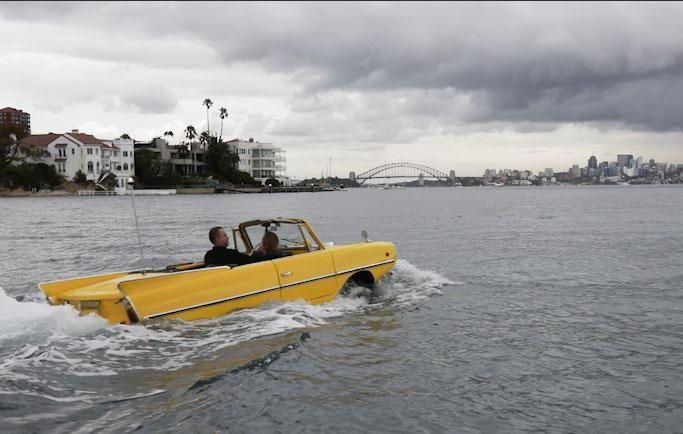 We took the 1966 Amphicar 770 for a spin around Sydney Harbour and it was a drive like no other. Source: Be