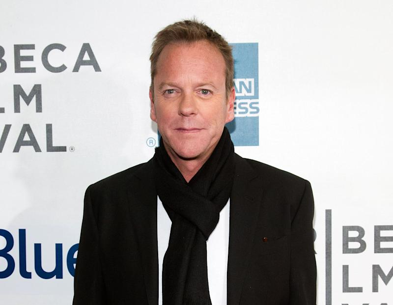"FILE - This April 21, 2013 photo shows actor Kiefer Sutherland at the premiere of ""The Reluctant Fundamentalist"" during the 2013 Tribeca Film Festival in New York. Sutherland, known for his terrorist-hunting role on ""24,"" says the attacks of Sept. 11 had a profound effect on him, but he focused on the great loss in this country. He says the new film shows how the attacks had a ""ripple effect"" that resulted in ""the things I had the most: racism, prejudice, ignorance, fear.""  (Photo by Dario Cantatore/Invision/AP, file )"
