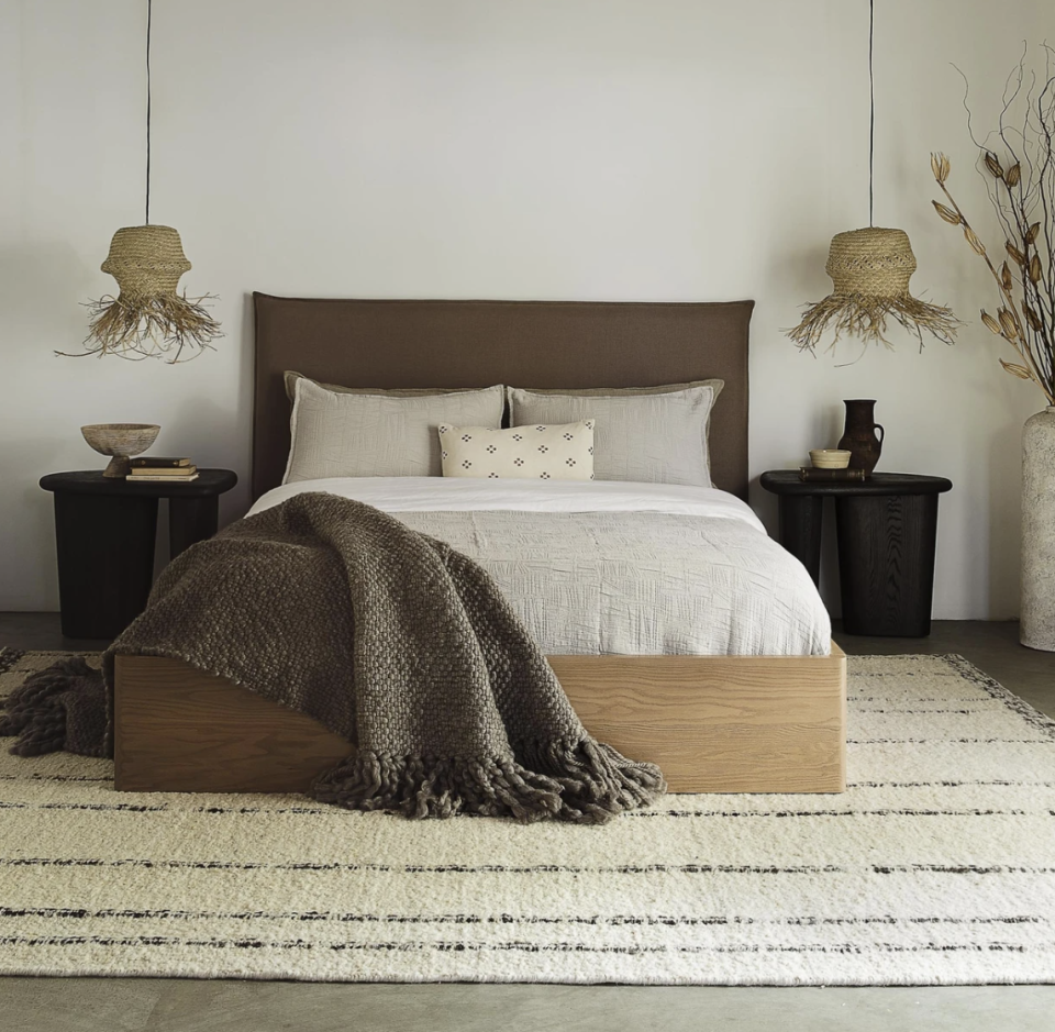 """<p>Lulu & Georgia touts styles that are both ahead of the trends and accessible to all, so that everyone can build their dream room. One of the brand's best-sellers is the <a href=""""https://go.skimresources.com?id=74968X1525087&xs=1&url=https%3A%2F%2Fwww.luluandgeorgia.com%2Fproducts%2Fnia-bed%3Fvariant%3D39490224390243"""" rel=""""nofollow noopener"""" target=""""_blank"""" data-ylk=""""slk:Nia Bed"""" class=""""link rapid-noclick-resp"""">Nia Bed</a>, which is equal parts simplistic and beautiful. </p><p><a class=""""link rapid-noclick-resp"""" href=""""https://go.skimresources.com?id=74968X1525087&xs=1&url=https%3A%2F%2Fwww.luluandgeorgia.com%2F"""" rel=""""nofollow noopener"""" target=""""_blank"""" data-ylk=""""slk:Shop"""">Shop</a></p>"""