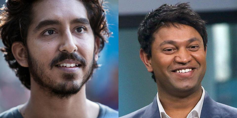 """<p>Based on a true story, <em>Lion </em>details the life of 5-year-old Saroo Brierley, who falls asleep on a train and loses his family. Patel plays Brierley and even <a href=""""https://www.vice.com/en_us/article/8qmqw3/saroo-brierley-on-the-surreal-experience-of-watching-dev-patel-playing-you-in-a-movie"""" rel=""""nofollow noopener"""" target=""""_blank"""" data-ylk=""""slk:met him IRL"""" class=""""link rapid-noclick-resp"""">met him IRL</a>. </p>"""