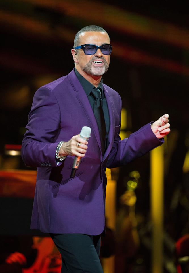 George Michael peformed at the Royal Albert Hall in London on Sept. 29, 2012.