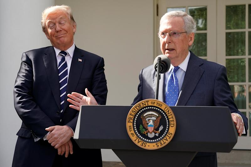 Mitch McConnell with Donald Trump