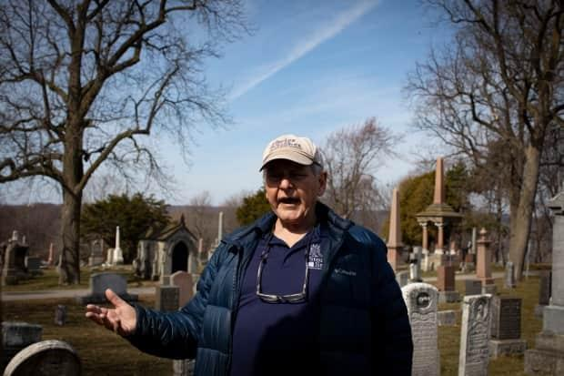 McKee's Civil War tours at Hamilton Cemetery led him to his research in learning the mystery behind an unmarked grave that ended up being the resting place for Stevens.