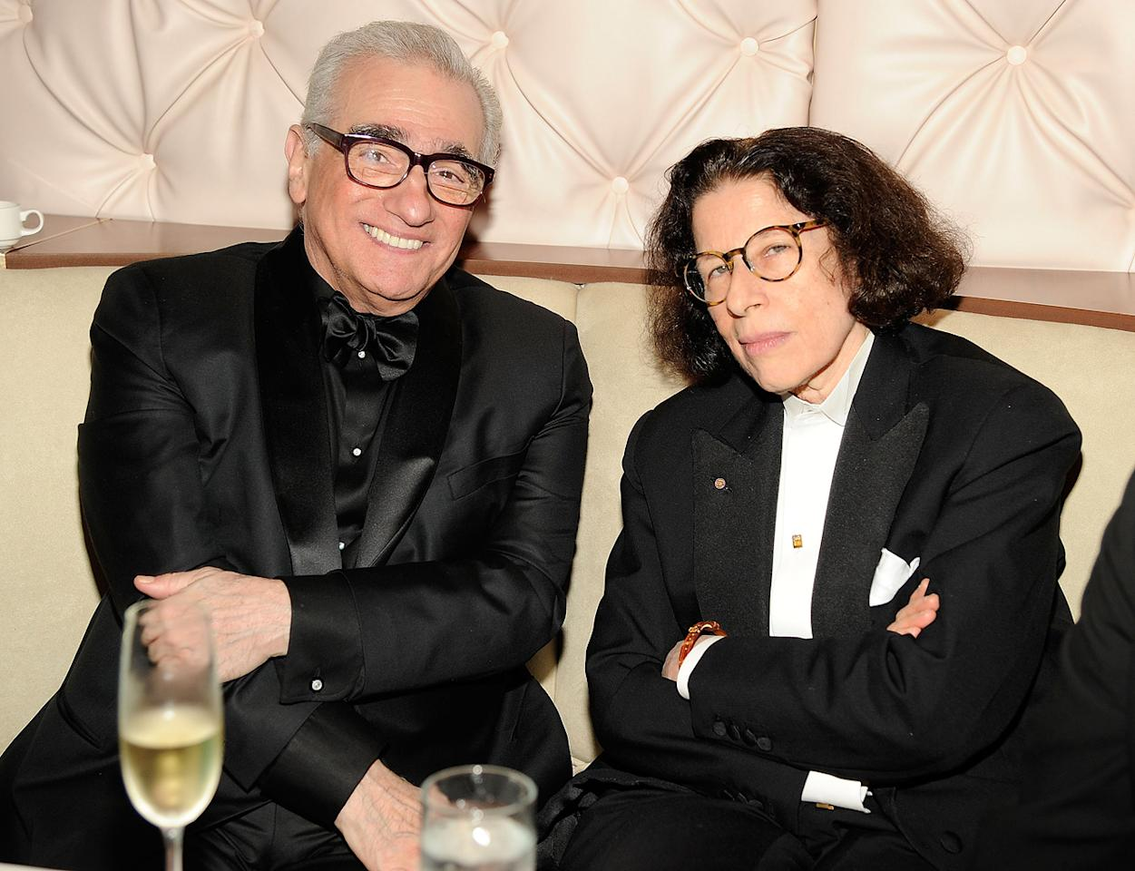 Marty Scorsese threw back a few cocktails with old pal Fran Lebowitz.