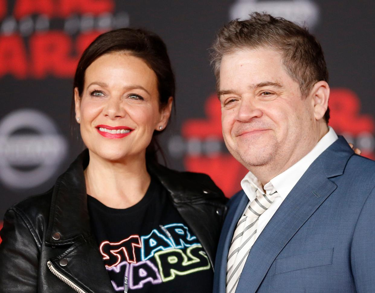 Patton Oswalt and Meredith Salenger, pictured in September, married in November and are now celebrating their first holiday season together.