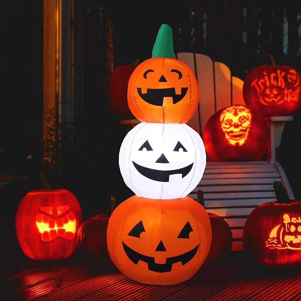 <p>Put these <span>Maoyue Halloween Inflatable Pumpkins</span> ($32) on your porch.</p>