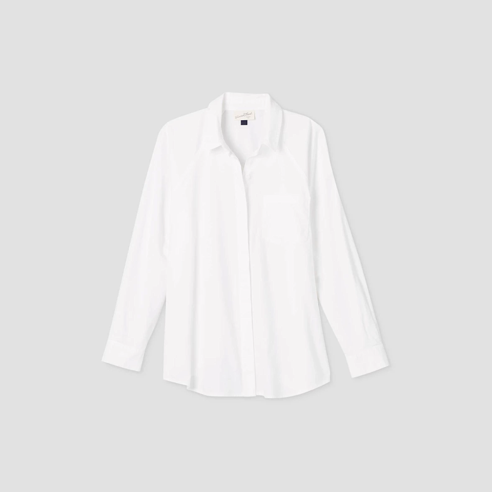 """<strong><h3>Universal Threads Long Sleeve Button-Down Boyfriend Shirt</h3></strong><br><strong>Why It's A Best Buy:</strong> A good white button-down is the great outfit equalizer, and this $20 staple from Target has perfectly relaxed-but-still tailored proportions. Jeans got you feeling too casual? Throw a crisp white button-down, and you're immediately a few notches chic-er. Need to dress down your heels-and-skirt look for the office or a weeknight dinner? Button that baby up.<br><br><strong>The Review:</strong> """"I recently stopped pretending that I might buy something other than white button-downs, and I am now on the path to have a closet full of them. I think Target's quality is top-notch for the price. This one also has a relaxed fit for a legit borrowed-from-the-boys vibe."""" – <em>Emily Ruane, Refinery29 Fashion Market Writer</em><br><br><strong>Universal Threads</strong> Long Sleeve Button-Down Boyfriend Shirt, $, available at <a href=""""https://go.skimresources.com/?id=30283X879131&url=https%3A%2F%2Fgoto.target.com%2FLJJ9O"""" rel=""""nofollow noopener"""" target=""""_blank"""" data-ylk=""""slk:Target"""" class=""""link rapid-noclick-resp"""">Target</a>"""