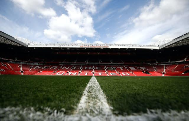 Old Trafford will host Manchester United's game with Sheffield United. (Martin Rickett/PA)