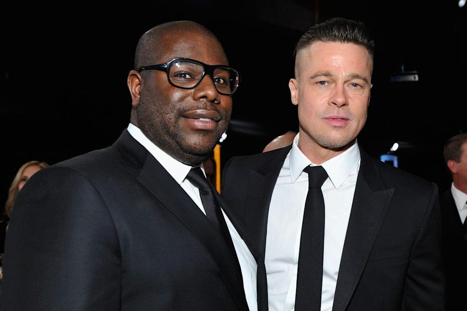 """<p>Pitt took home an Oscar in 2014 for producing Steve McQueen's <em><a href=""""https://www.imdb.com/title/tt2024544/?ref_=nm_flmg_act_14"""" rel=""""nofollow noopener"""" target=""""_blank"""" data-ylk=""""slk:12 Years a Slave"""" class=""""link rapid-noclick-resp"""">12 Years a Slave</a></em>. He also married Jolie in a ceremony in France.</p>"""