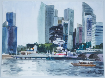 From The Esplanade, 2013 / Water Colour on Paper (30 x 40cm)