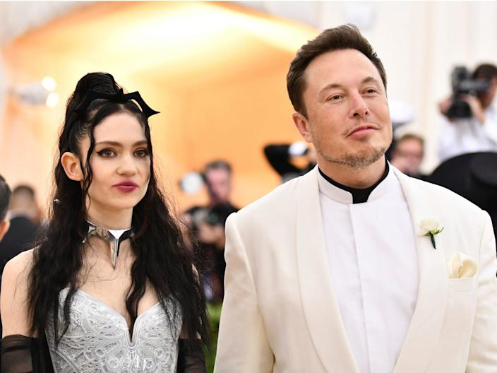 Grimes, left, and Elon Musk attend The Metropolitan Museum of Art's Costume Institute benefit gala in May 2018.