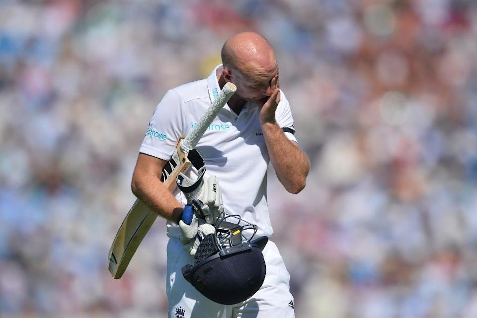 Adam Lyth's place is now under threat ahead of England's departure to the United Arab Emirates in October for three Tests against Pakistan (AFP Photo/Glyn Kirk)
