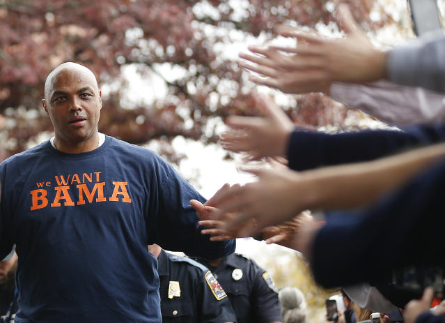 Charles Barkley detailed plans to build better housing for his small Alabama hometown, which would be funded by auctioning off his Olympic medal and MVP award. (AP Photo/Brynn Anderson)