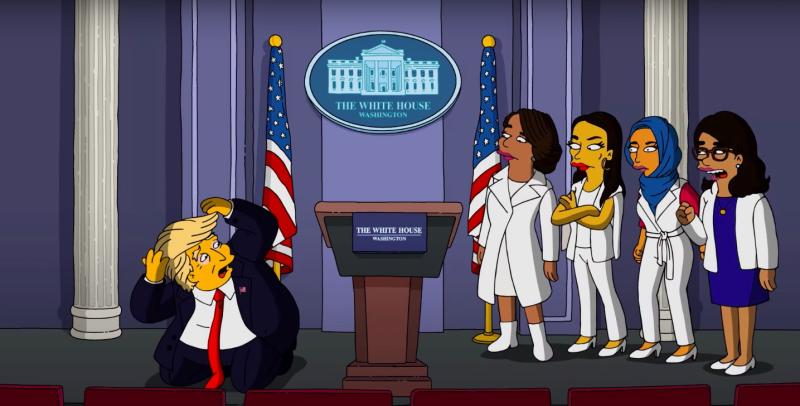 The Simpsons satirizes President Donald Trump in its latest musical short..