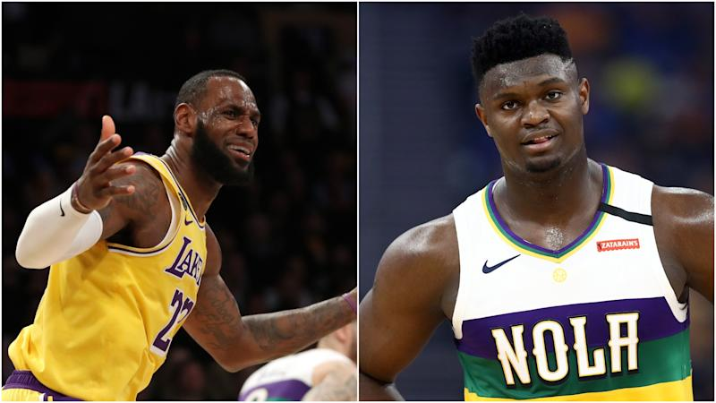 LeBron James on first career meeting with Zion Williamson: He's going to get better and better
