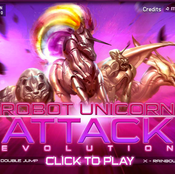 Robot Unicorn Attack Evolution Facebook