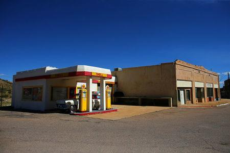 An old refurbished gas station is seen in Lowell, Arizona, United States, October 10, 2016. REUTERS/Mike Blake