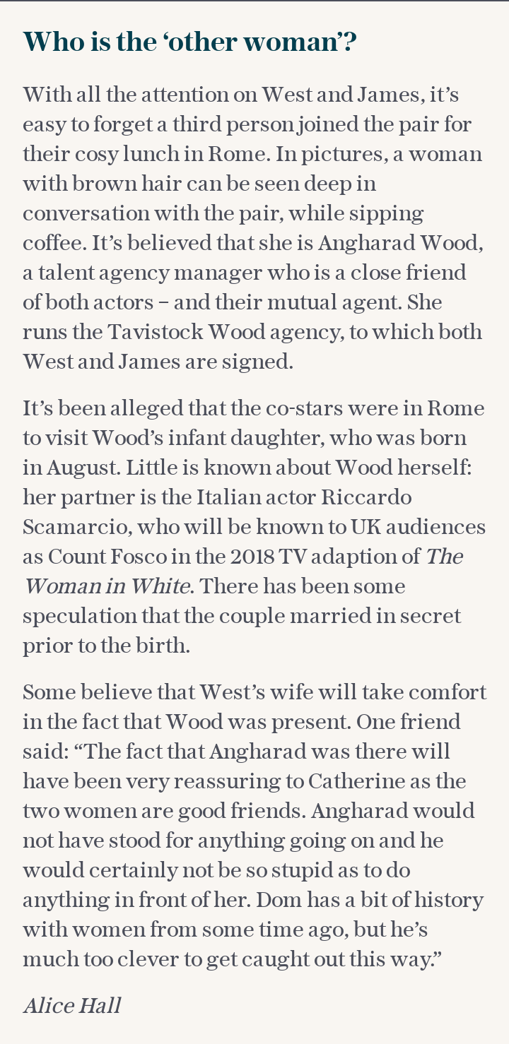 Dominic West: Who is the 'other woman'?