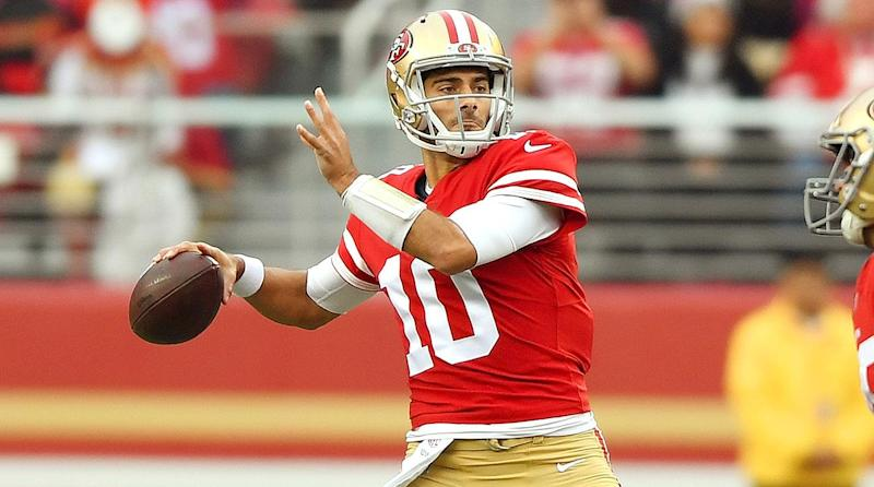new style e223c 82748 Jimmy Garoppolo at the Helm of a Late-Season Revivial in San ...