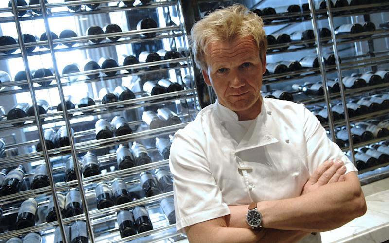 Celebrity chef Gordon Ramsay's restaurant business has fallen to a pre-tax loss after the temporary closure of one site and legal costs in the US - STEPHANE DE SAKUTIN