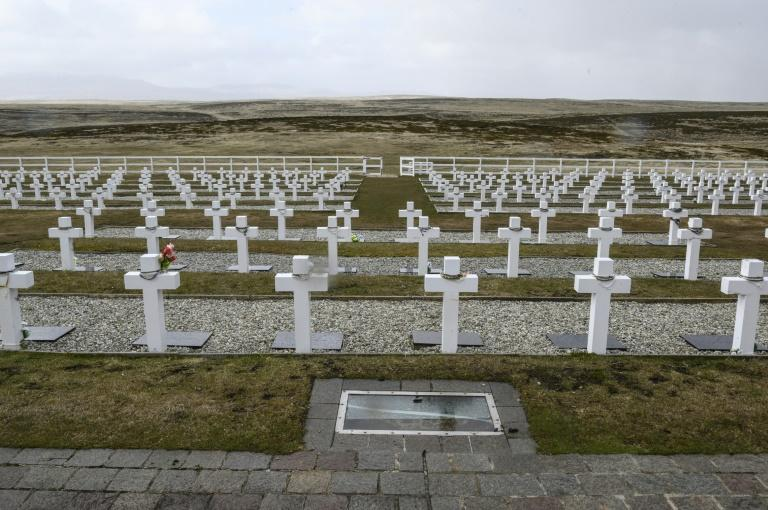 The Argentine Military Cemetery on East Falkland. Argentine troops invaded the windswept islands for 74 days in 1982, before Britain swiftly defeated them (AFP Photo/Pablo PORCIUNCULA BRUNE)