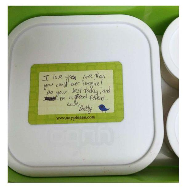 PHOTO: Beau Coffron writes notes for his kids' lunchboxes to add a personal touch. (Beau Coffron/Lunchbox Dad)
