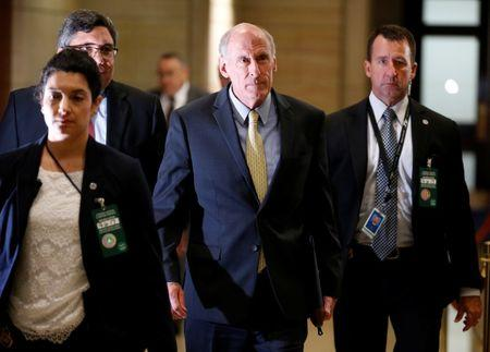 Director of National Intelligence Dan Coats arrives for a closed classified briefing for members of the House of Representatives on North Korea and Afghanistan on Capitol Hill in Washington