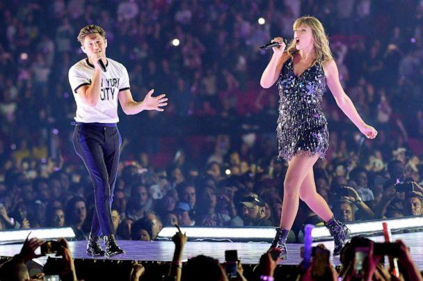 PHOTO: Niall Horan and Taylor Swift perform on stage during the reputation Stadium Tour at Wembley Stadium on June 22, 2018, in London. (Gareth Cattermole/tas18/Getty Images, FILE)