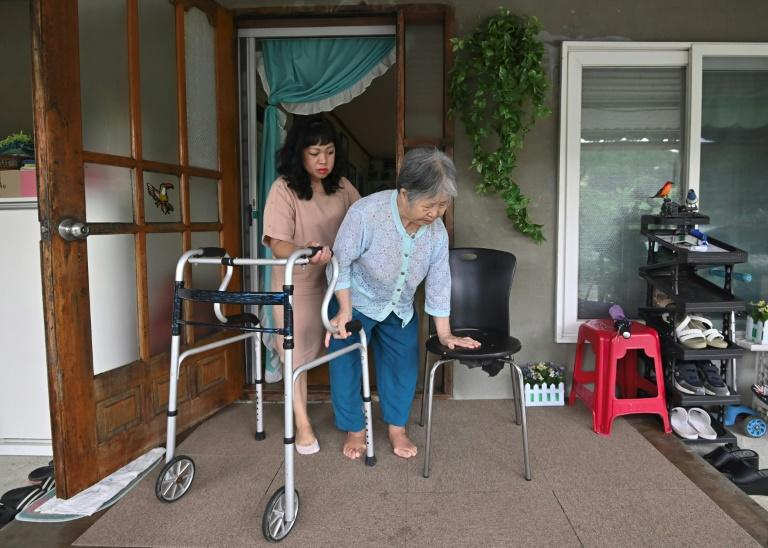 South Korean women are increasingly shunning marriage and traditional expectations that wives should care not only for their husbands, but their elderly in-laws too -- so migrant wives are making up some of the shortfall (AFP Photo/Jung Yeon-je)