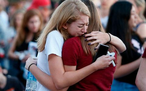 Columbine Parkland shooting Facebook Tumblr Anne Marie Hochhalter  - Credit:  AFP
