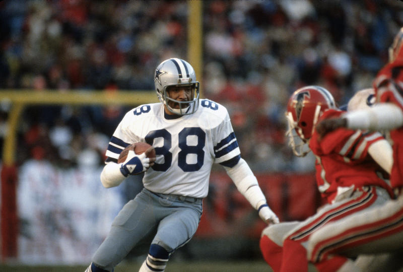 Drew Pearson is on the 1970s All-Decade Team as a wideout who starred with the Cowboys. (Getty Images)